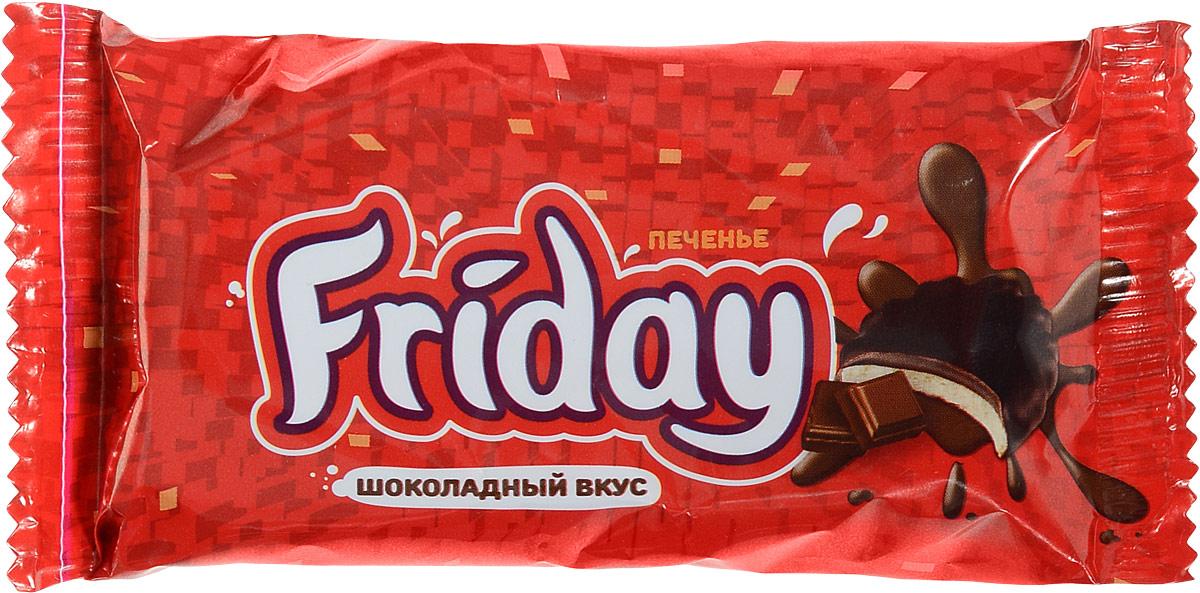 Слодыч Печенье Friday глазированное с шоколадным вкусом, 63 г слодыч вечерний слодыч сахарный печенье 250 г