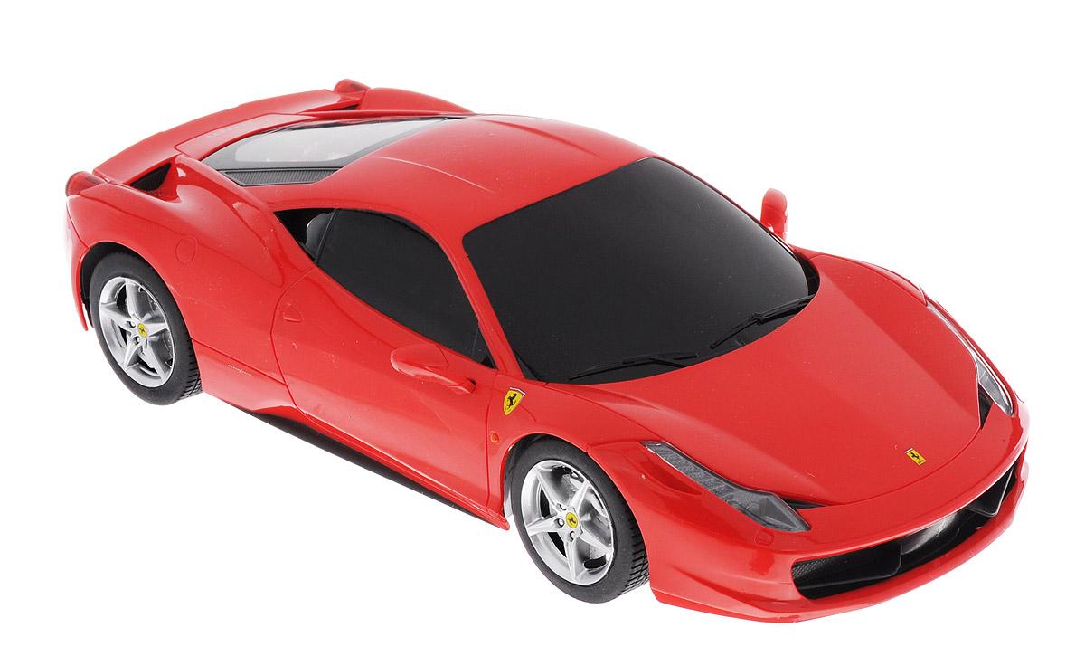 Rastar Радиоуправляемая модель Ferrari 458 Italia цвет красный масштаб 1:18 53400-10