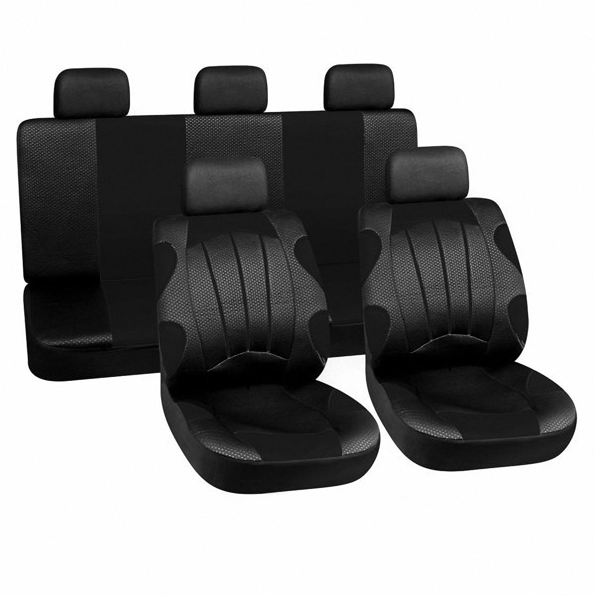 Чехлы автомобильные Skyway. LUX-28701 BK67008Вам не хватает уюта и комфорта в салоне? Самый лучший способ изменить это – одеть ваши сидения в чехлы SKYWAY. Изготовленные из полиэстера они защитят ваш салон от износа и повреждений. Более плотный поролон позволяет чехлам полностью прилегать к сидению автомобиля и меньше растягиваться в процессе использования. Ткань чехлов на сиденья SKYWAY не вытягивается, не истирается, великолепно сохраняет форму, устойчива к световому и тепловому воздействию, а ровные, крепкие швы не разойдутся даже при сильном натяжении.
