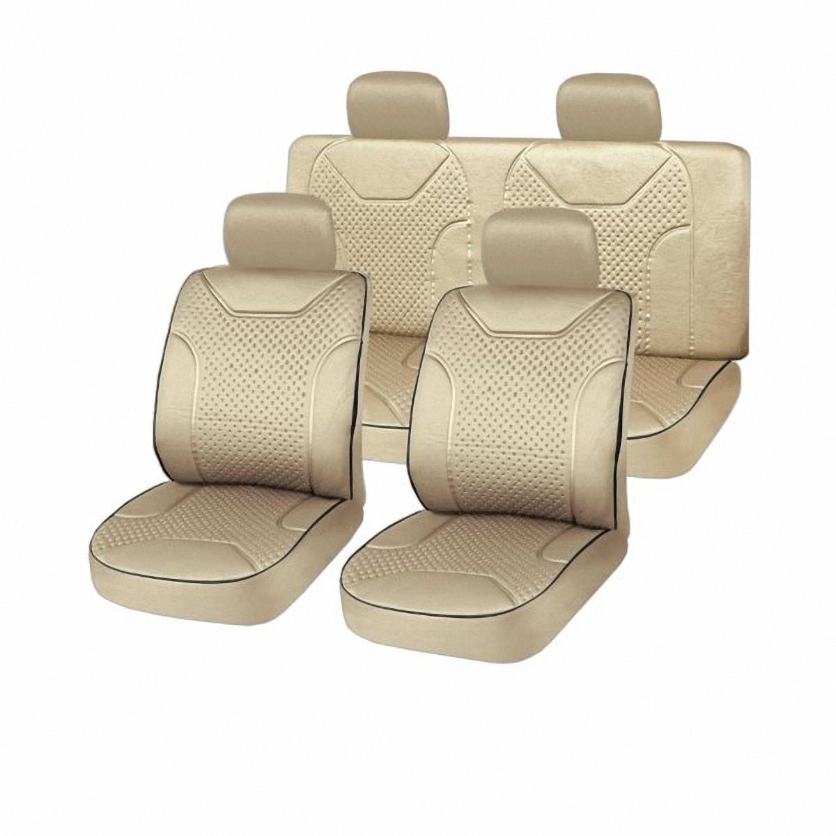 Чехлы автомобильные Skyway. S01301018Ветерок 2ГФВам не хватает уюта и комфорта в салоне? Самый лучший способ изменить это – «одеть» ваши сидения в чехлы SKYWAY. Изготовленные из прочного материала они защитят ваш салон от износа и повреждений. Более плотный поролон позволяет чехлам полностью прилегать к сидению автомобиля и меньше растягиваться в процессе использования. Ткань чехлов на сиденья SKYWAY не вытягивается, не истирается, великолепно сохраняет форму, устойчива к световому и тепловому воздействию, а ровные, крепкие швы не разойдутся даже при сильном натяжении.
