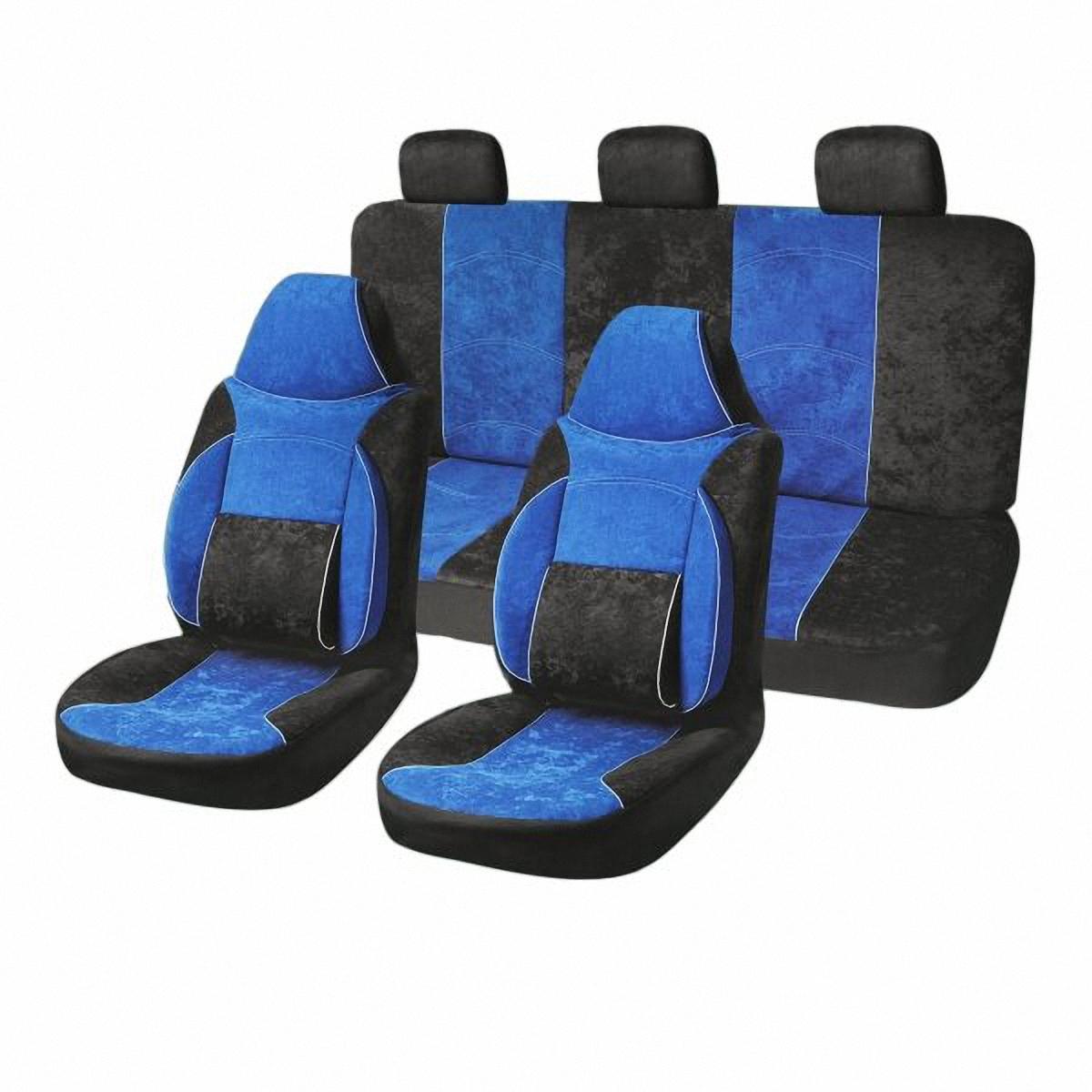 Чехлы автомобильные Skyway. S01301034V005-D1Комплект классических универсальных автомобильных чехлов Skyway S01301034 изготовлен из велюра. Чехлы защитят обивку сидений от вытирания и выцветания. Благодаря структуре ткани, обеспечивается улучшенная вентиляция кресел, что позволяет сделать более комфортными долгое пребывание за рулем во время дальней поездки.