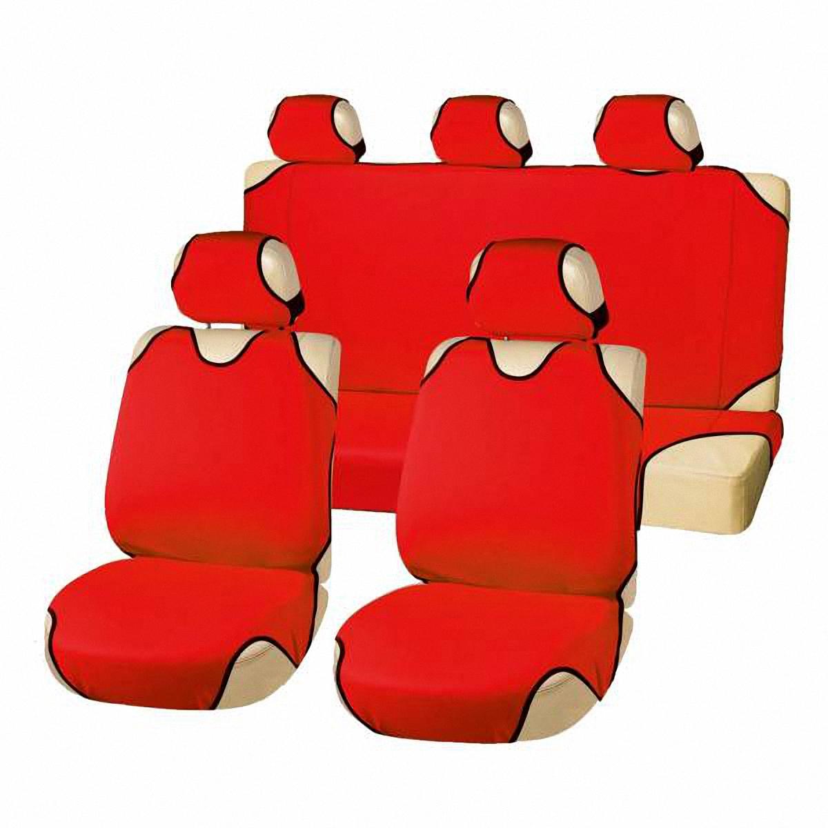 Чехлы-майки автомобильные Skyway. S01303009Ветерок 2ГФКомплект универсальных автомобильных чехлов Skyway изготовлен из полиэстера.Благодаря многослойной структуре материала изделие точно повторяет контур сидений. Конструкция всех предметов комплекта разработана специально для их максимально удобной и лёгкой установки на сидения вашего автомобиля.Комплектация: Чехлы на подголовники - 5 шт. Чехол-майка на передние сиденья - 2 шт. Чехол-майка на заднее сиденье - 1 шт. Чехол-майка на спинку заднего сиденья - 1 шт.