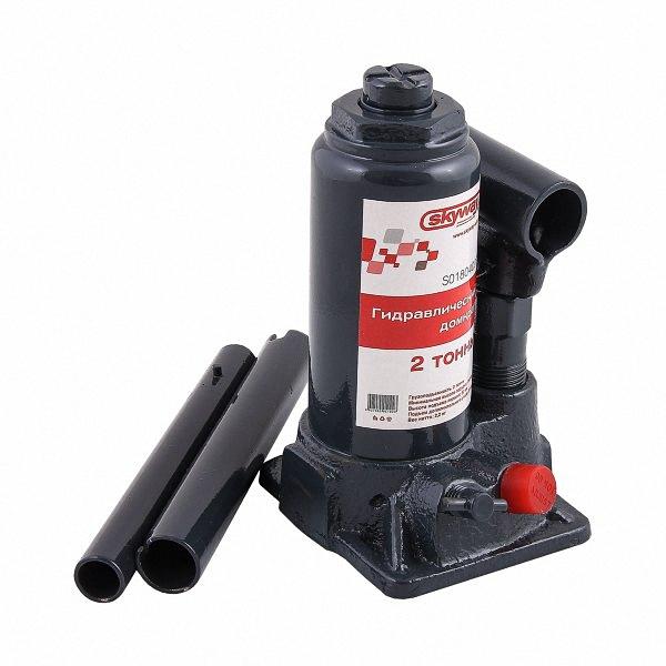 Домкрат бутылочный Skyway, гидравлический, с клапаном, 2 т домкрат гидравлический бутылочный skybear 6т  410610