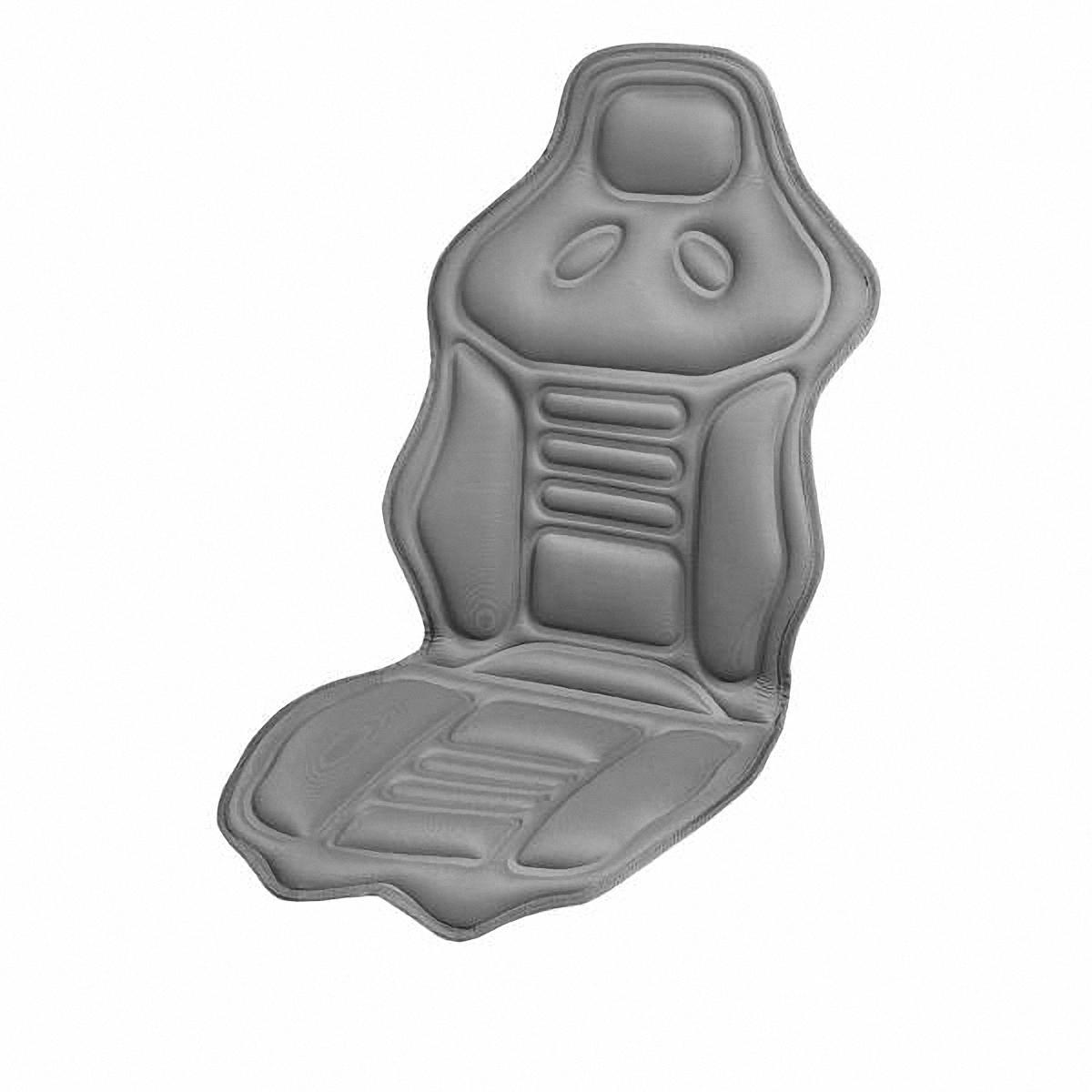 Накидка на сиденье Skyway, массажная, с подогревомВетерок 2ГФМассажная накидка на сиденье Skyway с функцией подогрева имеет 2 вида массажа, продолжительный или пульсирующий, 5 режимов интенсивности. Зоны массажа: нижняя и верхняя части спины и бедра. Есть пульт управления и удобный карман для его хранения в нижней части накидки с правой стороны. Функция обогрева предназначена для создания комфортной температуры 37-40 градусов и расположена в поясничной зоне. Оснащена предохранителем, который в случае нежелательного перепада напряжения защитит изделие и бортовую сеть автомобиля. Накидка подходит для всех размеров сидений.Напряжение: 12В. Количество режимов массажа: 5. Количество скоростей: 3. Температура подогрева: 37-40°C.