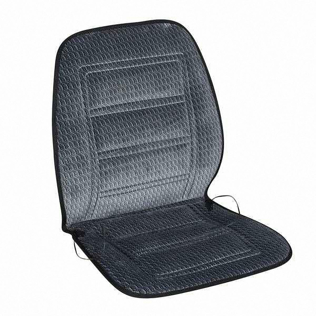 Подогрев для сиденья Skyway, со спинкой, цвет: темно-серый, 95 х 47 смS1010661В подогреве для сиденья Skyway в качестве теплоносителя применяется углеродный материал. Такой нагреватель обладает феноменальной гибкостью и прочностью на разрыв в отличие от аналогов, изготовленных из медного или иного металлического провода.Особенности:- Универсальный размер.- Снижает усталость при управлении автомобилем.- Обеспечивает комфортное вождение в холодное время года.- Простая и быстрая установка.- Умеренный и интенсивный режим нагрева.- Терморегулятор для изменения интенсивности нагрева.- Защита крепления шнура питания к подогреву.Устройство подключается к прикуривателю на 12V.