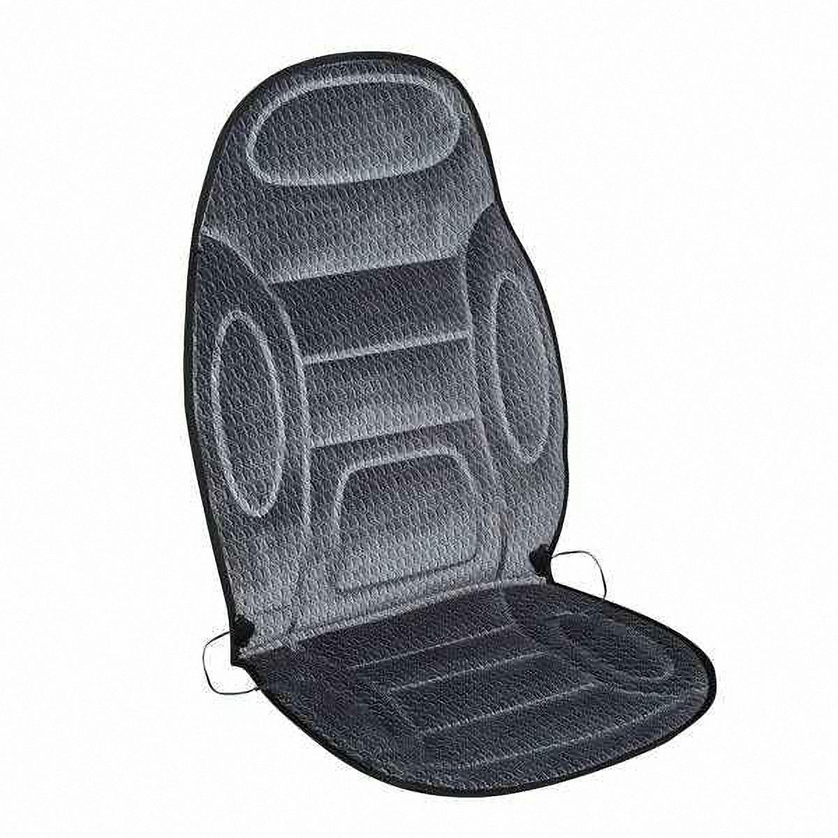 Подогрев для сиденья Skyway, со спинкой, 120 х 51 смS01301087В подогреве для сиденья Skyway в качестве теплоносителя применяется углеродный материал. Такой нагреватель обладает феноменальной гибкостью и прочностью на разрыв в отличие от аналогов, изготовленных из медного или иного металлического провода.Особенности:- Универсальный размер.- Снижает усталость при управлении автомобилем.- Обеспечивает комфортное вождение в холодное время года.- Простая и быстрая установка.- Умеренный и интенсивный режим нагрева.- Терморегулятор для изменения интенсивности нагрева.- Защита крепления шнура питания к подогреву.Устройство подключается к прикуривателю на 12V.
