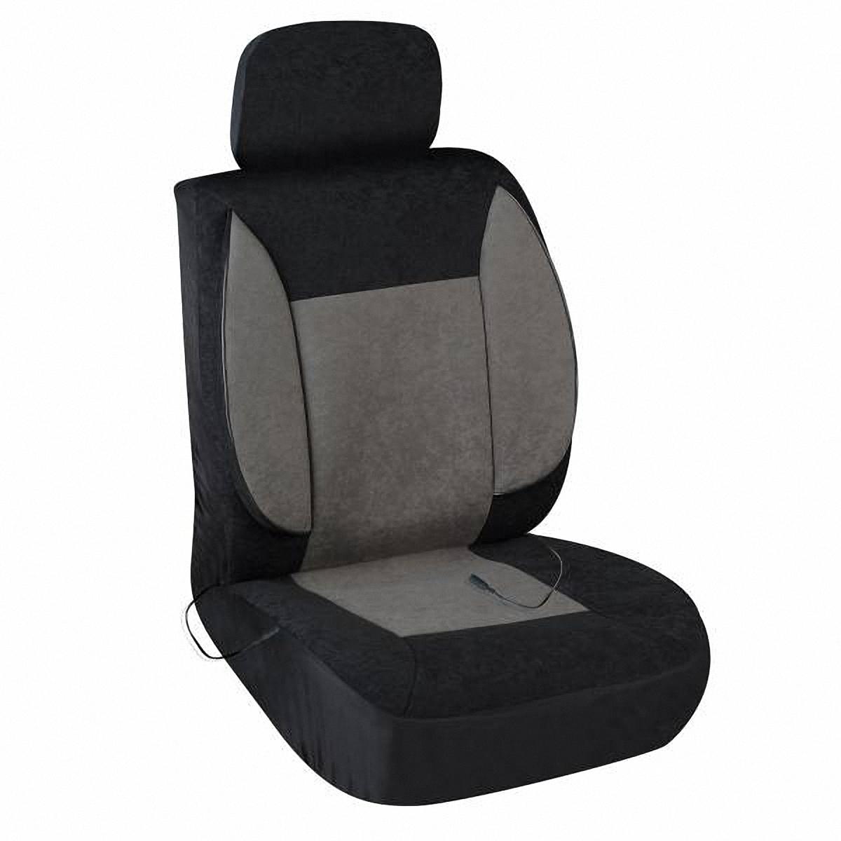 Чехол на сиденье Skyway, с подогревом. S02202006TRS/MTX-001 BK/D.GYЧехол на сиденье Skyway, изготовленный из велюра, снижает усталость при управлении автомобилем и обеспечивает комфортное вождение в холодное время года.Подогрев сиденья с терморегулятором (2 режима). В качестве теплоносителя применяется углеродный материал. Такой нагреватель обладает феноменальной гибкостью и прочностью на разрыв в отличие от аналогов, изготовленных из медного или иного металлического провода.Устройство подключается к прикуривателю на 12V.Размер чехла: 116 х 56 см.