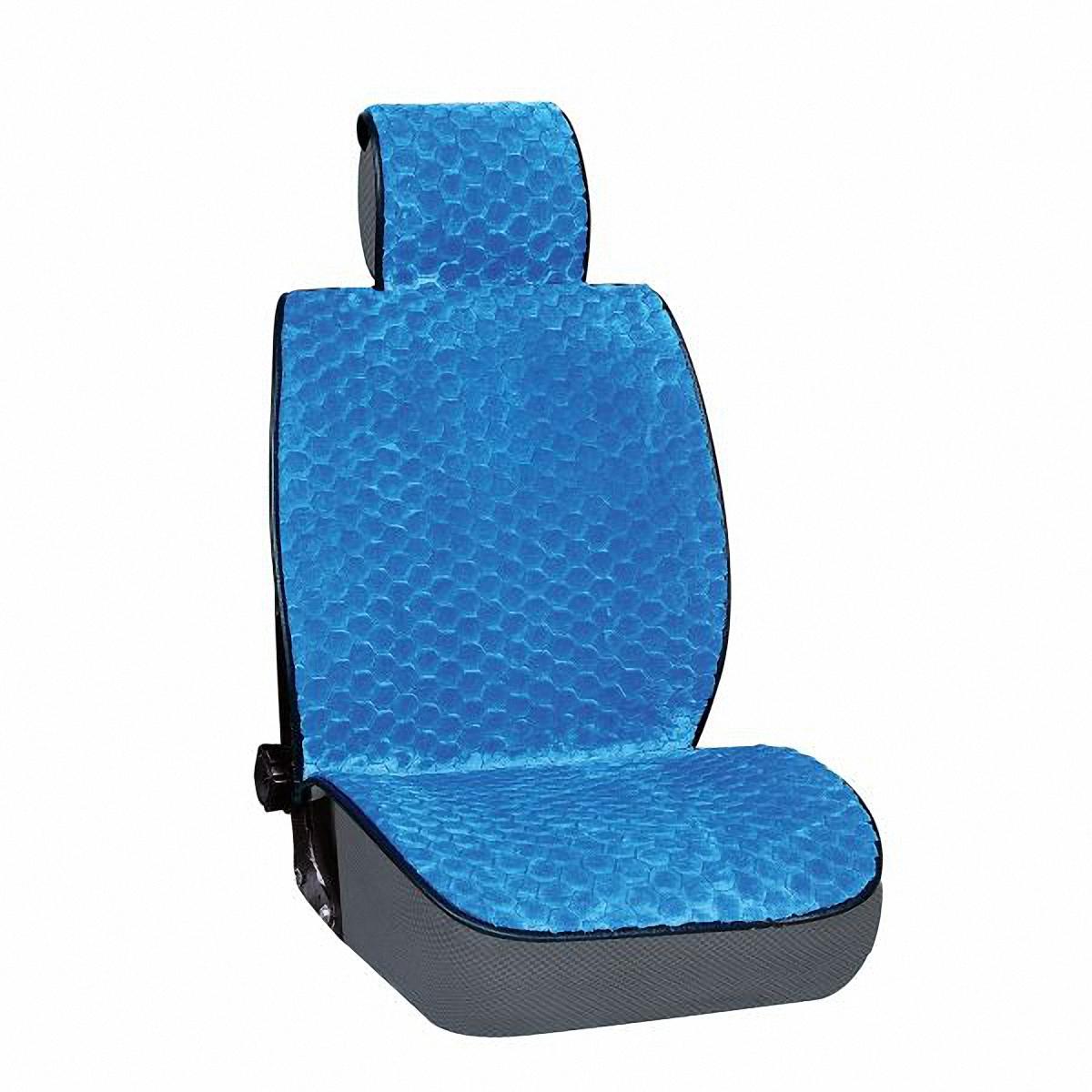 Накидка на сиденье Skyway, цвет: синий. S03001024CA-3505Накидка на сиденье Skyway - это изящное сочетание стиля и качества. Выполненные из искусственного меха они расслабляют мышцы спины при поездке, благотворно влияя на позвоночник. Так просто получить ощущение легкого массажа. С ними салон становится уютнее, а сами сидения - удобнее.