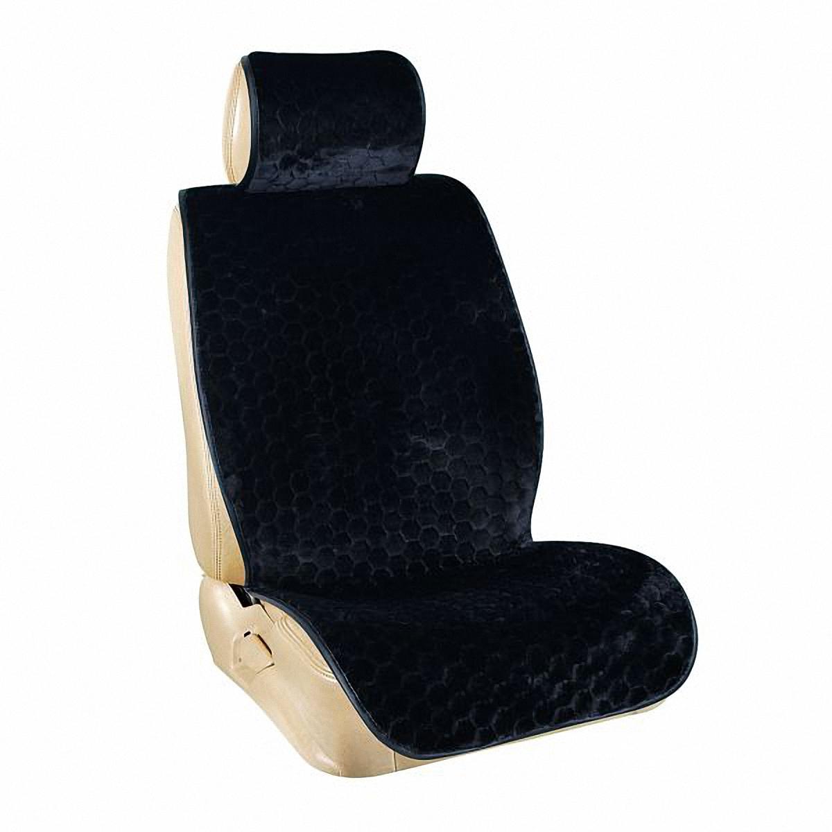 Накидка на сиденье Skyway, цвет: черный. S03001027CA-3505Накидка на сиденье Skyway - это изящное сочетание стиля и качества. Выполненные из искусственного меха они расслабляют мышцы спины при поездке, благотворно влияя на позвоночник. Так просто получить ощущение легкого массажа. С ними салон становится уютнее, а сами сидения - удобнее.