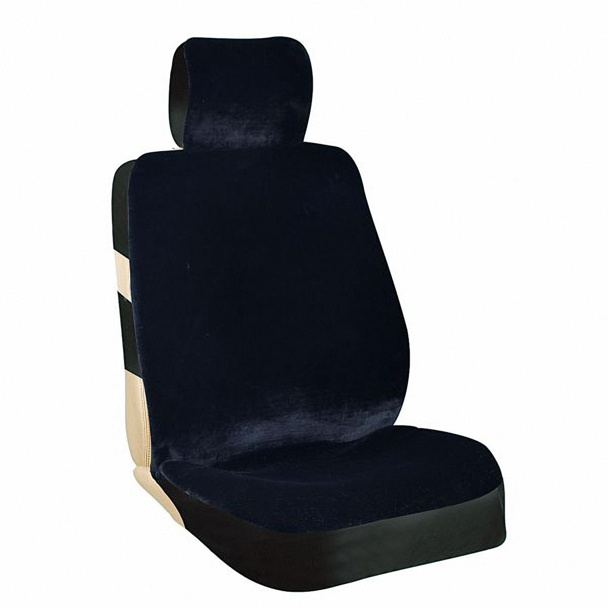 Чехол на сиденье Skyway, 2 шт. S030010751103Комплект чехлов на сиденья Skyway выполнен из искусственного мутона, благодаря которому чехлы сохраняют свою форму. Многослойная структура изделия и спинка из тонкой тянущейся ткани позволяют максимально точно повторять контур сидений, делая чехлы универсальными.Крепятся при помощи резинок и пластиковых креплений. Комплект из двух предметов со слитной схемой надевания и подголовником быстро устанавливаются. Искусственный мутон сохраняет тепло, чехол не скользит по сиденью.Комплектация:Чехлы для передних сидений 2 шт.Характеристики:Основной материал - искусственный мутон/тканьНаполнитель - триплированный* поролон 5 ммСлитный подголовник - даЦвет - черныйКарманы в спинках передних сидений - даКрепление - пластиковое крепление/резинкиСлитная схема надевания - даРазмеры: Длина чехла - 137 смШирина спинки - 56 смШирина сиденья - 54 смШирина подголовника - 26 смТриплированный поролон - высокотехнологичных материалов в три слоя с завершающей основой, благодаря которой поролон не сыпется и сохраняет свою форму.Чехлы являются универсальными. Эластичный материал на спинках и по бокам тянется, позволяя максимально точно повторять контур сидений.