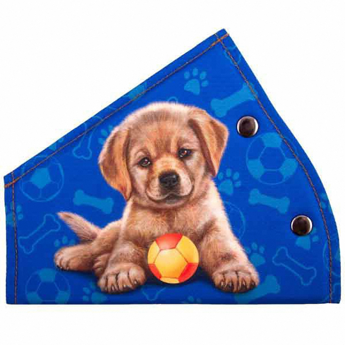 Адаптер ремня безопасности Skyway Щенок, цвет: синийFS-80423Детский адаптер ремня безопасности, изготовленный из полиэстера и декорированный красочным рисунком, удерживает ремень безопасности в положении, удобном для человека небольшого роста. Удерживающее устройство можно установить на любой трёхточечный ремень безопасности. Подходит для ремней безопасности как слева, так и справа. При перевозке ребёнка до 12 лет адаптер ремня безопасности разрешено устанавливать только на ремни заднего сиденья.Адаптер прост в установке, легко фиксируется при помощи быстрозастегивающегося крепления.Изделие уменьшает давление ремней на тело ребёнка, удаляет ремень от лица ребенка, обеспечивая ему комфорт во время поездок.Тип крепления: кнопки.