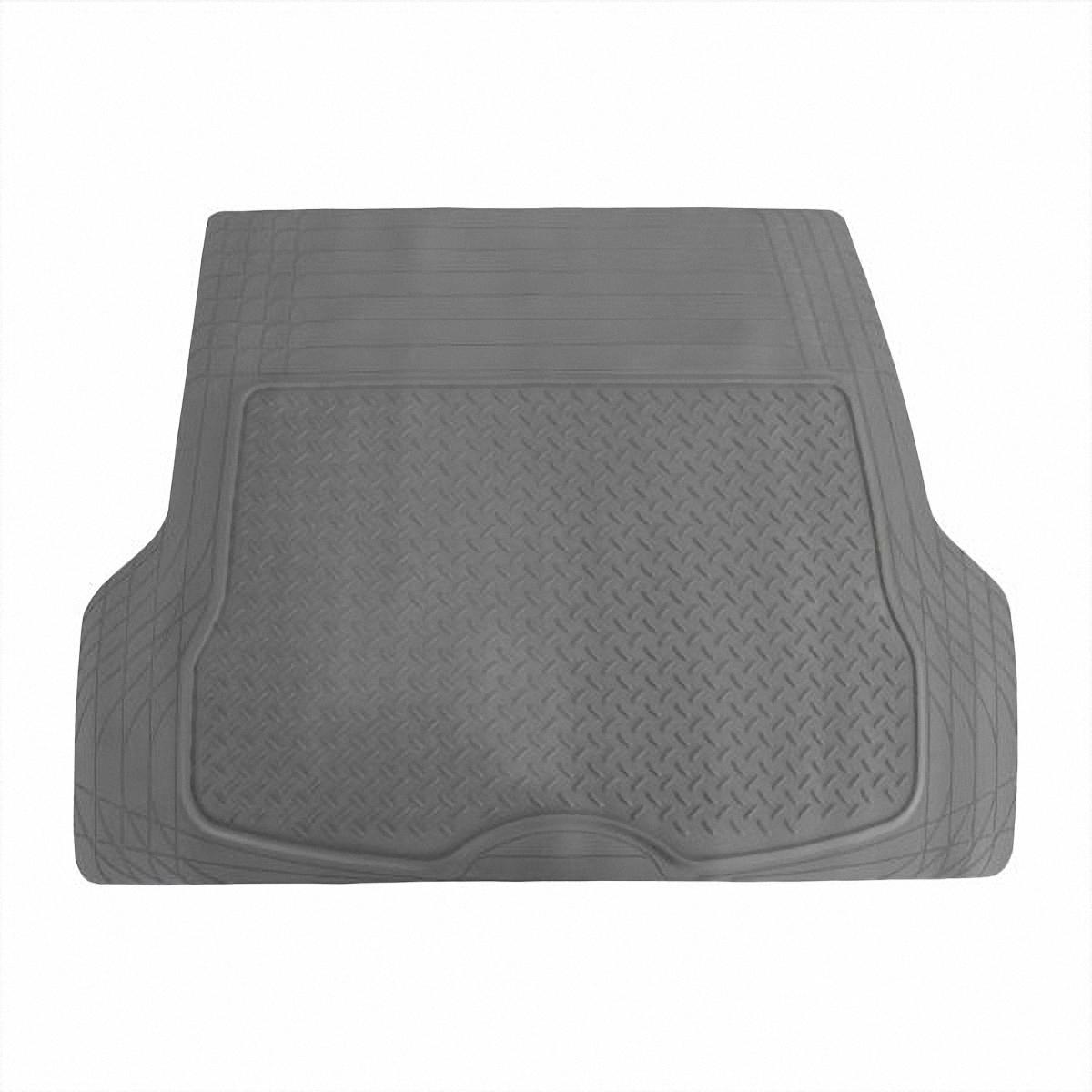 Коврик в салон автомобиля Skyway, в багажник, цвет: серый, 109,5 х 144 см13802001Коврик сохраняет эластичность даже при экстремально низких и высоких температурах (от -50°С до +50°С). Обладает повышенной устойчивостью к износу и агрессивным средам, таким как антигололёдные реагенты, масло и топливо. Усовершенствованная конструкция изделия обеспечивает плотное прилегание и надёжную фиксацию коврика на полу автомобиля.Размер: 109,5 х 144 см.