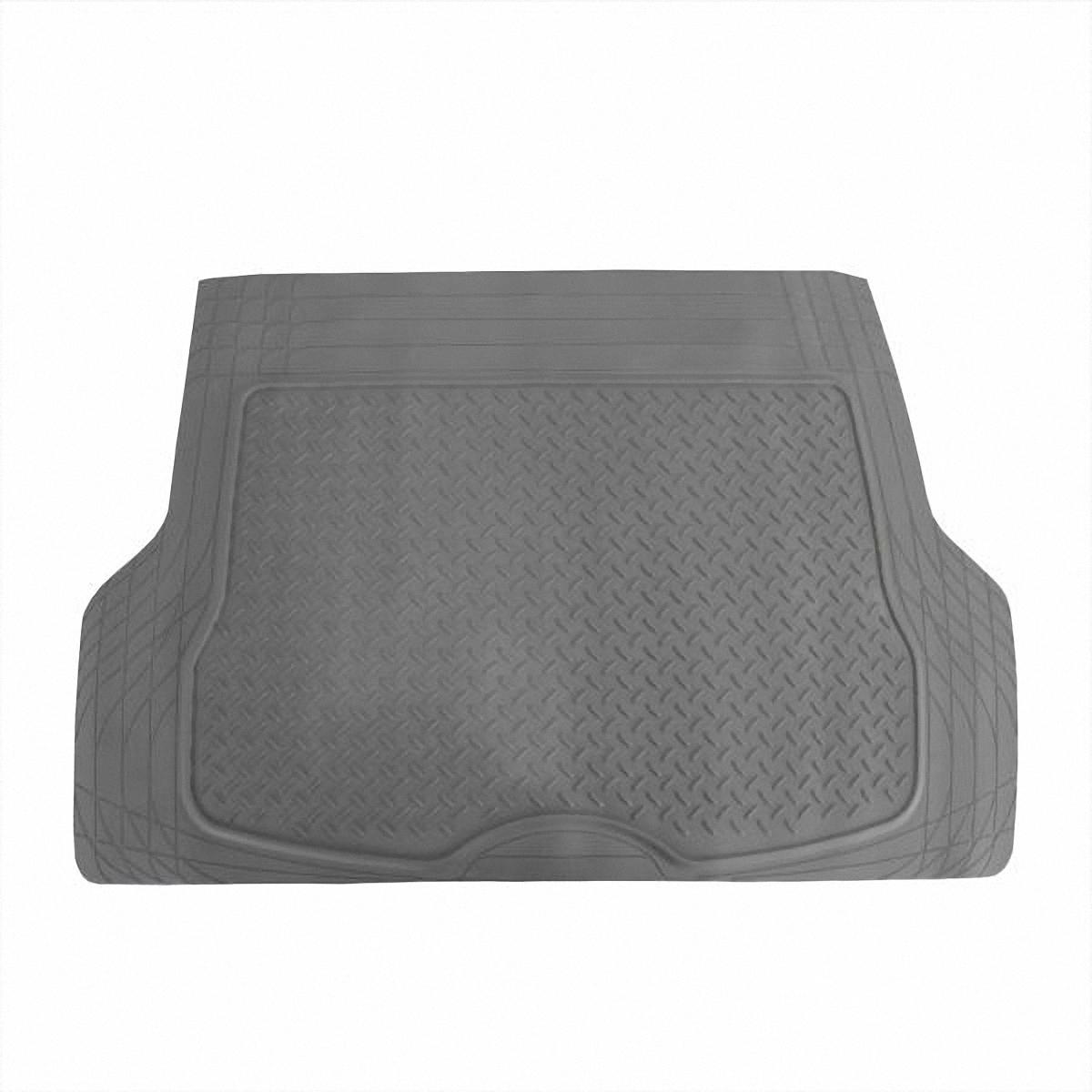 Коврик в салон автомобиля Skyway, в багажник, цвет: серый, 80 х 126,5 см98291124Коврик сохраняет эластичность даже при экстремально низких и высоких температурах (от -50°С до +50°С). Обладает повышенной устойчивостью к износу и агрессивным средам, таким как антигололёдные реагенты, масло и топливо. Усовершенствованная конструкция изделия обеспечивает плотное прилегание и надёжную фиксацию коврика на полу автомобиля.Размер: 80 х 126,5 см.
