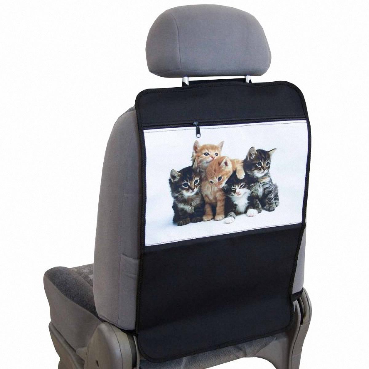 Накидка-органайзер защитная Skyway Котята, на спинку сидения, 37 х 55 см. S0610100474004Защитная накидка-органайзер Skyway Котята изготовлена изиз материалов, отличающихся высокими эксплуатационными характеристиками, благодаря чему в течение длительного времени сохраняют презентабельный внешний вид. Ткань накидки устойчива к механическому воздействию, а также является достаточно прочной и плотной для того, чтобы не пропустить жидкости и другие источники загрязнений к обивке сидений. А рисунок в виде котят порадует вашего ребенка.Размер изделия: 37 х 55 см.