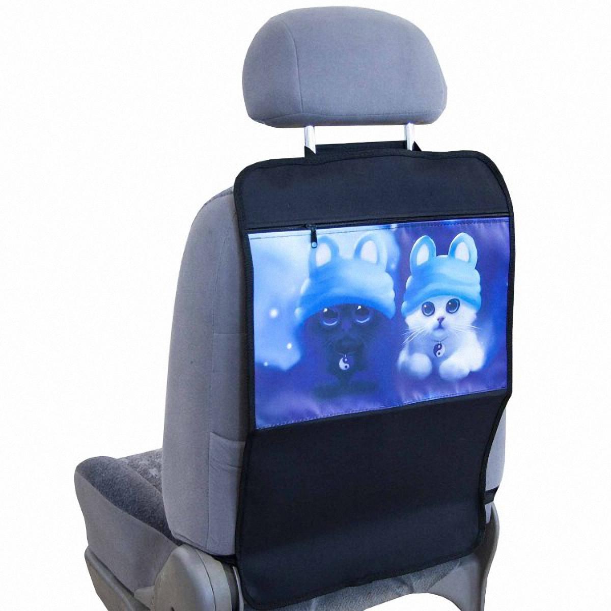 Накидка-органайзер защитная Skyway, на спинку сидения, 37 х 55 см. S06101005V015/5-2Защитная накидка-органайзер Skyway изготовлена из материалов, отличающихся высокими эксплуатационными характеристиками, благодаря чему в течение длительного времени сохраняет презентабельный внешний вид. Ткань накидки устойчива к механическому воздействию, а также является достаточно прочной и плотной для того, чтобы не пропустить жидкости и другие источники загрязнений к обивке сидений. А красочный рисунок не даст заскучать вашему ребенку в дальней дороге.Размер изделия: 37 х 55 см.