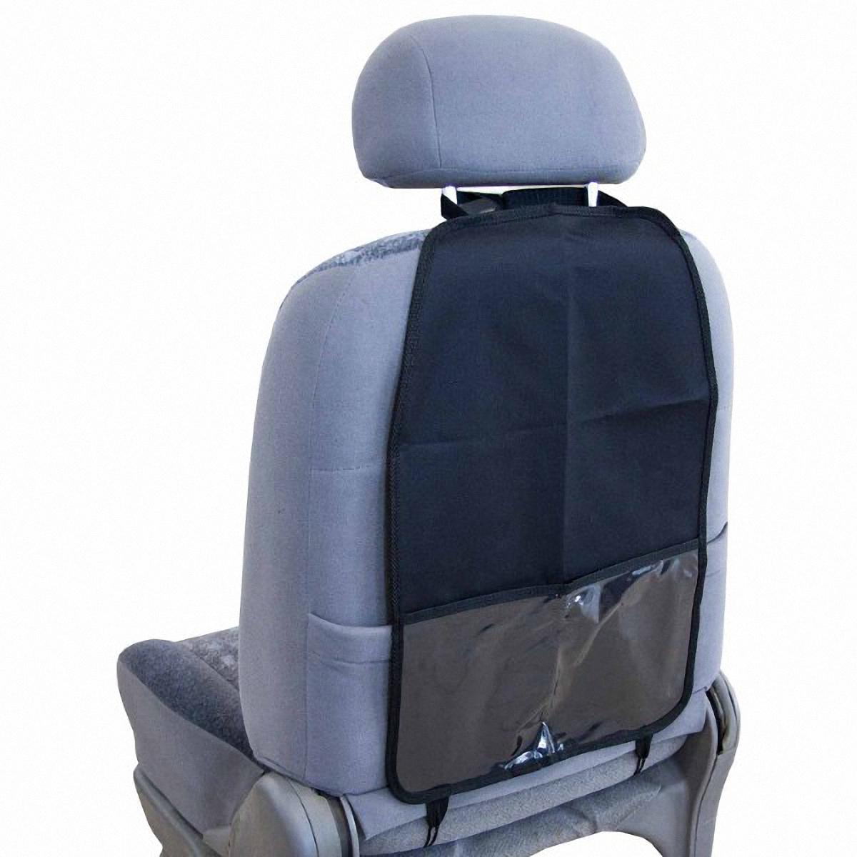 Накидка защитная Skyway, на спинку сидения, 37 х 55 смCA-3505Защита спинки сидения Skyway совмещает в себе функции органайзера и защиты спинки сиденья. Позволяет компактно разместить все необходимые автомобилисту инструменты и аксессуары: от отвертки до детских книг. При этом надежно защищает сиденье от загрязнений и повреждений. Органайзер оснащен карманом, изготовлен из водонепроницаемого и прочного материала. Легко устанавливается и не требует дополнительного ухода. Размер изделия: 37 х 55 см.