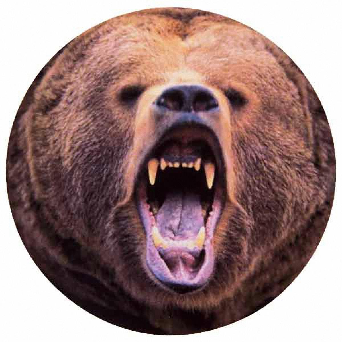Чехол на запасное колесо Skyway Медведь, диаметр 77 смВетерок 2ГФЧехол Skyway Медведь обеспечивает защиту запасного колеса автомобиля от загрязнений, прямых солнечных лучей, воздействия воды, посторонних предметов, агрессивных сред и других негативных факторов. Чехол изготовлен из прочной экокожи, которая легко моется и надолго сохраняет внешний вид. Чехол оформлен оригинальным изображением медведя и снабжен резинкой для легкого надевания. Благодаря чехлу, колесо сохранит свой внешний вид и характеристики. Размер колеса: R16, R17.Диаметр чехла: 77 см.