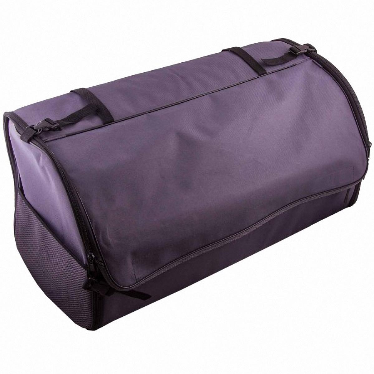 Органайзер автомобильный Skyway, в багажник, цвет: серый, 60 х 30 х 30 смВетерок 2ГФОрганайзер Skyway используется в багажнике для хранения различных вещей и мелких предметов, позволит вам компактно разместить все необходимые инструменты и аксессуары. Также может использоваться в качестве обычной сумки. Изготовлен из материала оксфорд. Материал очень прочный, устойчив к химическим веществам, долговечный и непромокаемый. Органайзер имеет боковые карманы-сетки, крышку на липучке и два больших кармана.