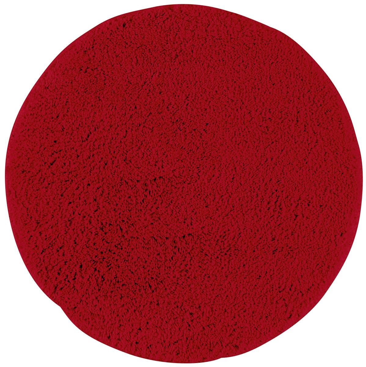 Коврик для ванной Axentia, противоскользящий, цвет: красный, диаметр 50 смS03301004Круглый коврик для ванной комнаты Axentia выполнен из высококачественной микрофибры. Противоскользящее основание изготовлено из термопластичной резины и подходит для полов с подогревом. Коврик стеганый, мягкий и приятный на ощупь, отлично впитывает влагу и быстро сохнет. Высокая износостойкость коврика и стойкость цвета позволит вам наслаждаться покупкой долгие годы.Можно стирать в стиральной машине. Диаметр коврика: 50 см. Высота ворса: 1,5 см.