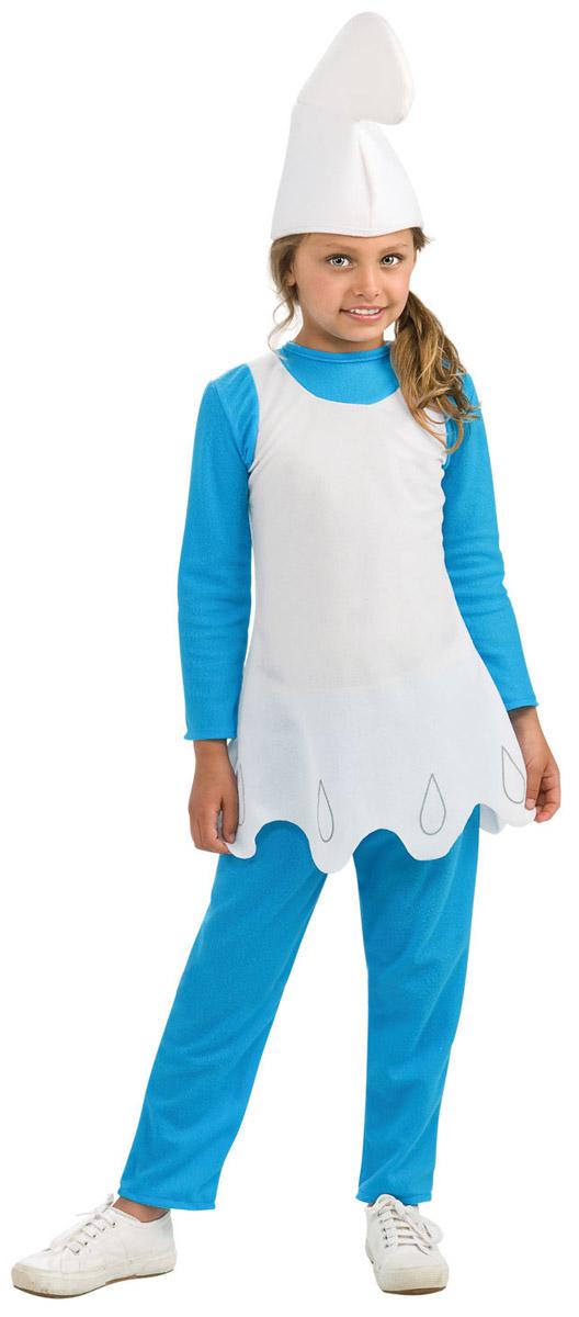 Карнавальный костюм для девочки Rubie's Смурфетта, цвет: голубой, белый. Н89151. Размер 104, 3-4 года - Карнавальные костюмы и аксессуары