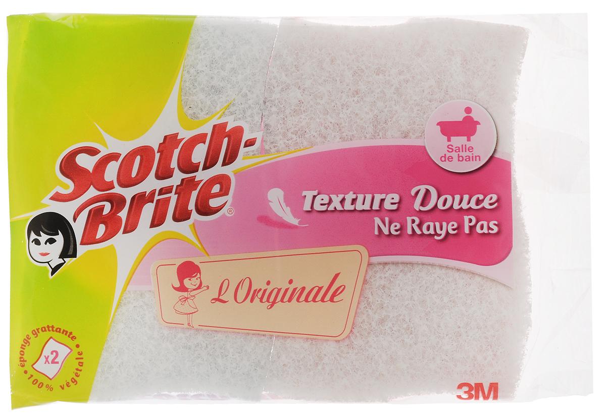 Набор целлюлозных губок Scotch-Brite, для уборки в ванной, цвет: розовый, голубой, белый, 2 шт787502Набор Scotch-Brite состоит из 2 целлюлозных губок, предназначенных для чистки любых поверхностей в ванной комнате (кафель, ванна, кран, столы и многое другое). Целлюлозная губка хорошо впитывает жидкость и рекомендуется для завершения уборки. Она оставляет поверхности сухими и чистыми. Преимущества:- быстро и легко очищает следы и разводы мыла и известкового налета; - отлично впитывает жидкость (в 27 раз больше своего веса в сухом состоянии);- мягкий экологичный материал;- можно использовать с неразбавленными отбеливающими веществами- исключительно долговечна.Размер губки: 10 х 6,5 х 2 см.