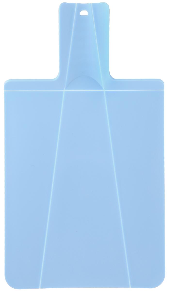 Доска разделочная Mayer & Boch, складная, цвет: голубой, 21 х 37 см391602Разделочная доска Mayer & Boch изготовлена из высококачественного полипропилена.Умный дизайн рукоятки позволяет с легкостью складывать, а также разворачивать доску. Присжатии ручки края доски складываются, образуя форму лотка. Это позволяет с легкостью ибыстротой переносить нарезанные продукты. Такая доска не помнется, не сломается и не пойдеттрещинами. Компактная доска Mayer & Boch прекрасно подойдет даже для небольшой поверхности стола ине займет много места при хранении.