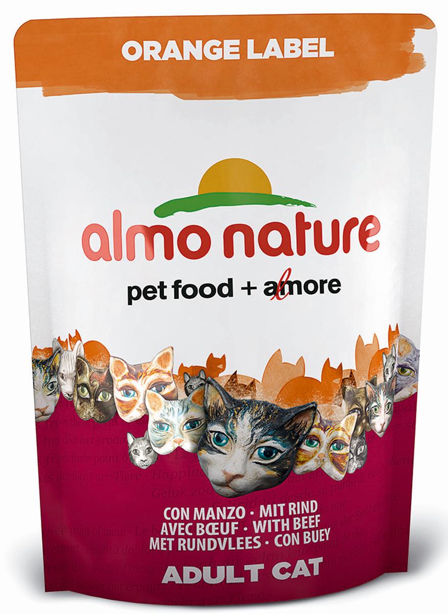 Корм сухой Almo Nature Orange Label, для кастрированных кошек, с говядиной, 105 г0120710Сухой корм Almo Nature Orange Label для кастрированных кошек - это высококачественный экологически чистый корм на основе отборных натуральных ингредиентов. Корм обогащен витаминами и минералами. Идеально подходит для домашних кошек, склонных к полноте, а также - для кастрированных котов и стерилизованных кошек. Не содержит ГМО, антибиотиков, химических добавок, консервантов и красителей.Состав: мясо говядины и ее производные 41% (из которых 25 % свежего мяса и 26% дегидрированного мяса), злаки, экстракт растительного белка, масла и жиры, дрожжи, минералы, субпродукты растительного происхождения.Питательные добавки: таурин 0,5 г/кг, L-карнитин 0,1 г/кг, витамин D3 290 МЕ/кг, витамин C 72 мг/кг, витамин E 145 мг/кг.Микроэлементы: железо 9 мк/кг, медь 0,1 мк/кг, цинк 59 мг/кг, марганец 0,5 мг/кг.Анализ: белки - 32%, клетчатка - 1,4%, жиры - 12,7%, зола - 7%, влажность - 9%.Товар сертифицирован.