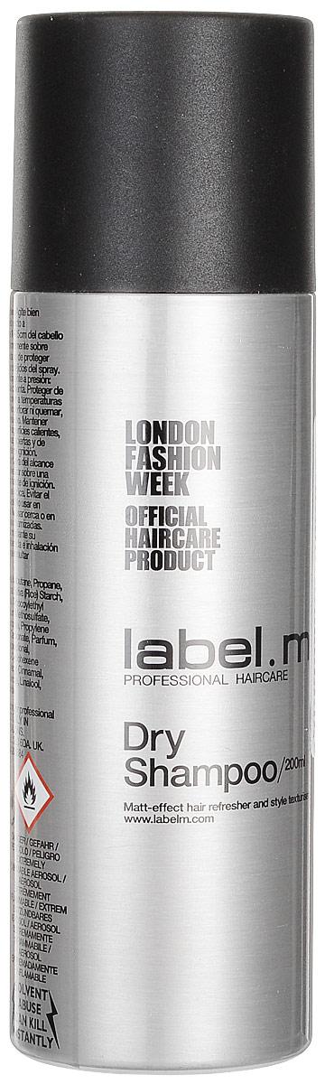Label.m Сухой шампунь, 200 мл43132Легкий микроспрей абсорбирует естественные загрязнения и остатки укладочных средств с сухих волос, позволяя освежить прическу, не прибегая к мытью головы. Создает матовую текстуру с пудровым эффектом.