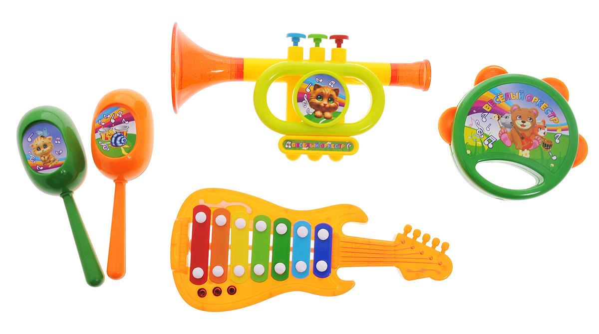 ABtoys Набор музыкальных инструментов Веселый оркестр 5 предметов