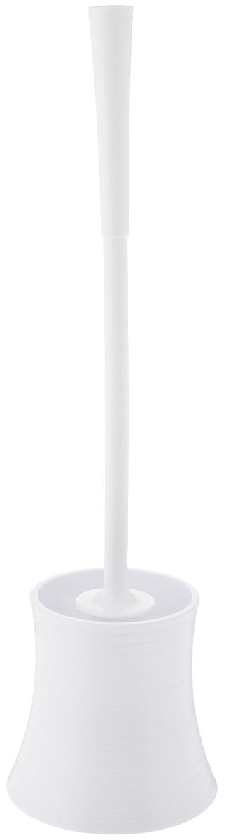 Ершик для унитаза Vanstore Style, с подставкой, цвет: белый40385001Ершик для унитаза Vanstore Style выполнен из пластика и оснащен жестким ворсом. Подставка с устойчивым основанием не позволяет ершику опрокинуться. Ершик отлично чистит поверхность, а грязь с него легко смывается водой.Стильный дизайн изделия притягивает взгляд и прекрасно подойдет к интерьеру туалетной комнаты.Высота ершика: 42 см.Размер рабочей части ершика: 8 х 8 х 8,5 см.Размер подставки для ершика: 12 х 12 х 11,5 см.