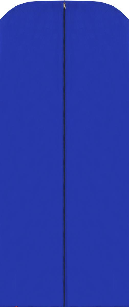 Чехол для одежды Eva, цвет: синий, 65 х 150 см. Е17RM-BOX-LMЧехол для одежды Eva изготовлен из высококачественного полипропилена. Особое строение полотна создает естественную вентиляцию: материал дышит и позволяет воздуху свободно проникать внутрь чехла, не пропуская пыль. Благодаря форме чехла, одежда не мнется даже при длительном хранении. Застегивается на молнию.Чехол для одежды будет очень полезен при транспортировке вещей на близкие и дальние расстояния, при длительном хранении сезонной одежды, а также при ежедневном хранении вещей из деликатных тканей. Чехол для одежды Eva не только защитит ваши вещи от пыли и влаги, но и поможет доставить одежду на любое мероприятие в идеальном состоянии.