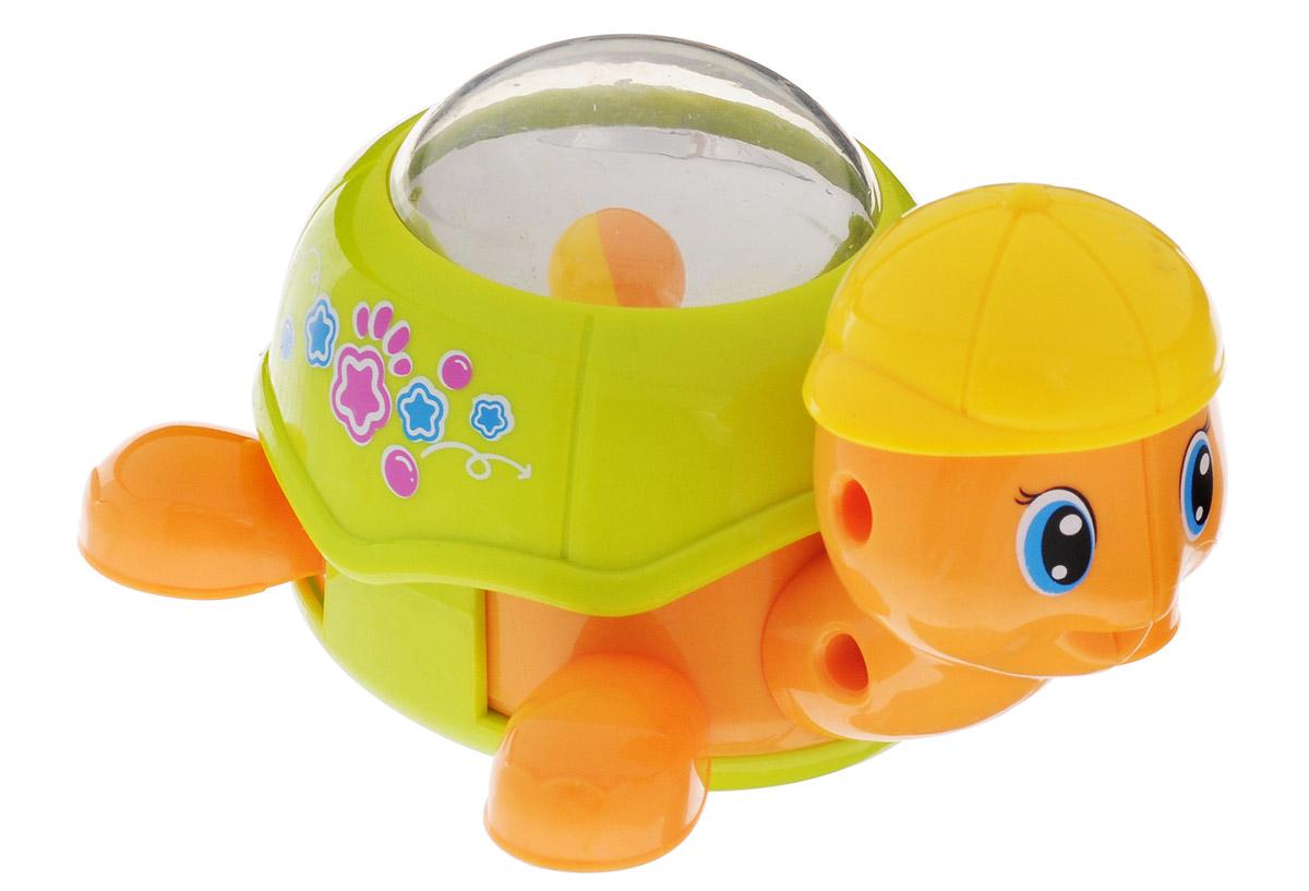 Huile Toys Заводная машинка-зверюшка Черепашка цвет светло-зеленый игрушка заводная машинка перевертыш цвет голубой красный