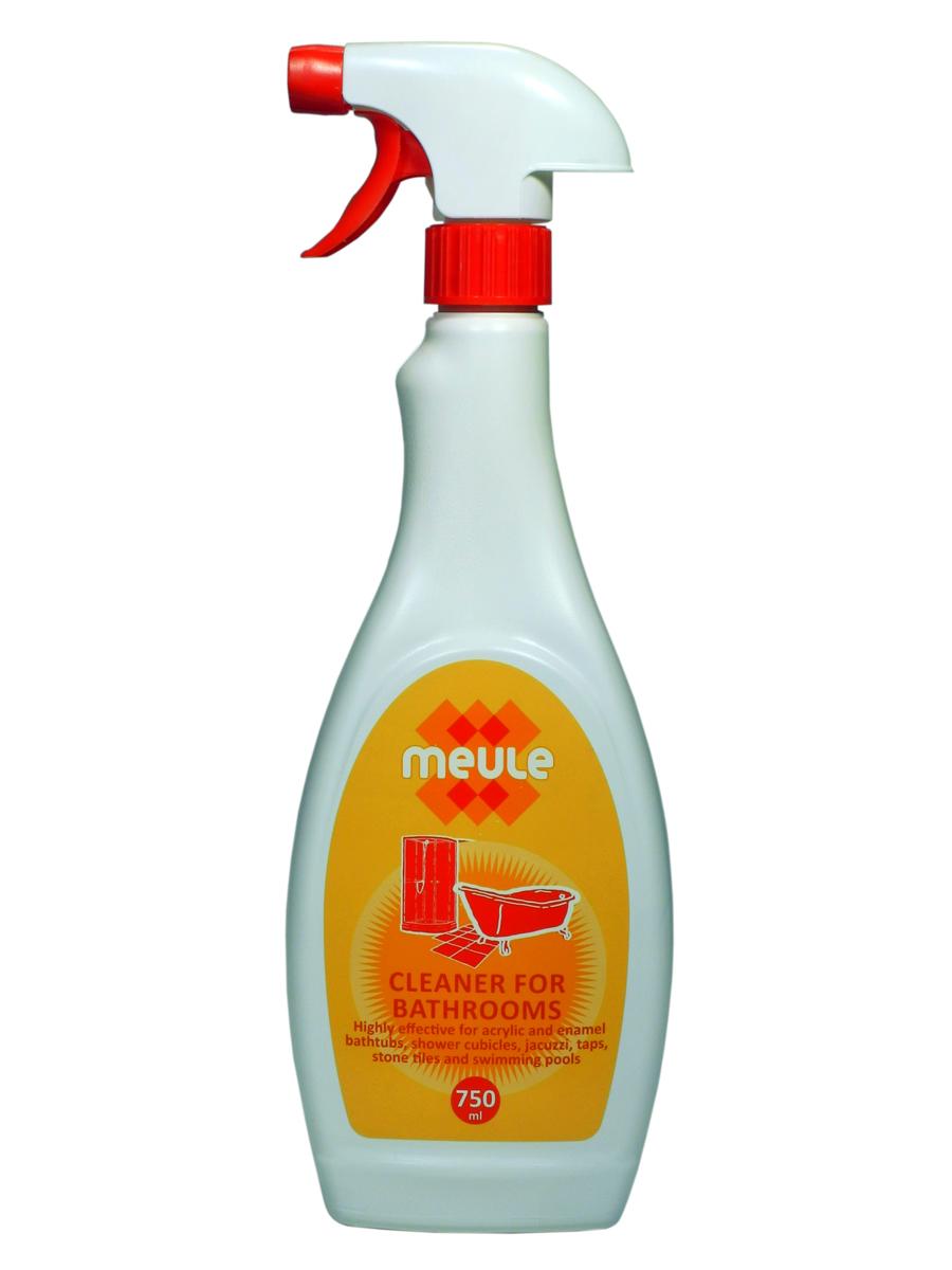Средство чистящее для ванны Meule, 750 мл68/5/1Meule Anti Calk for Acrylic Bathtubs 750 ml - Чистящее средство для акриловых и эмалированных ванн, джакузи, душевых кабин, кранов, кафеля и бассейнов. Мгновенно очищает поверхности от известкового налёта, ржавчины, плесени, грибка, мыльных пятен.Эффективен против застарелых пятен.Полирует все виды поверхностей.Придаёт блеск на долгое время.