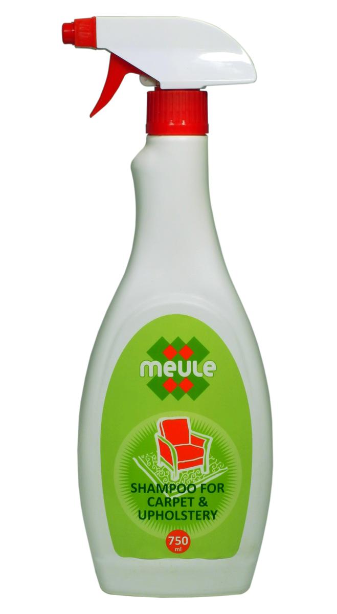 Шампунь для ковров Meule, 750 мл790009Meule Carpet Cleaner - это особый пенящийся шампунь для чистки ковров и обивочной ткани.Он предназначен для использования в жилых, офисных и других помещениях.Биологически активные компоненты в основе средства растворяют различные виды загрязнений.