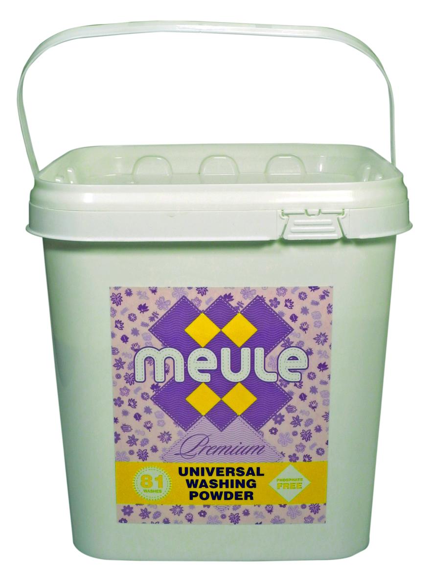 Порошок стиральный Meule, концентрат, 3 кгS03301004MEULE Premium Universal Washing Powder 3 кг в пластиковом ведре(81 стирка). - Универсальный бесфосфатный концентрированный стиральный порошок, высокого качества.Подходит для всех типов стиральных машин.Для белых и цветных тканей, изделий из хлопка, льна и синтетики.Отстирывает пятна и загрязнения различного происхождения, сохраняя структуру ткани. Препятствует образованию ворсистости (катышков) на одежде. Работает в широком диапазоне температур (от 30 до 90С). Предотвращает образование накипи. Полностью выполаскивается.