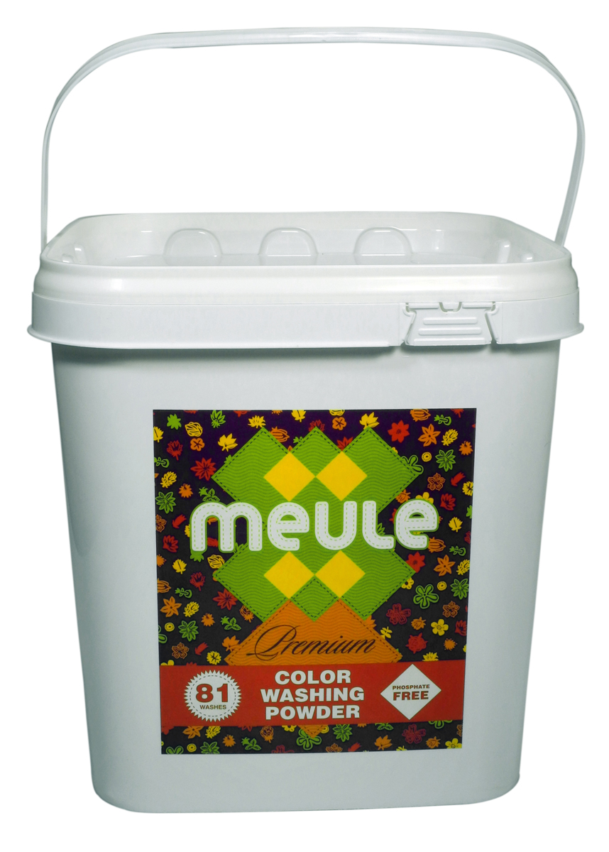 Порошок стиральный Meule, концентрат, для цветного белья, 3 кгK100MEULE Premium Color Washing Powder (81 стирка) - это бесфосфатный концентрированный стиральный порошок для цветного белья, высокого качества.Подходит для белых и цветных тканей, изделий из хлопка, льна и синтетики.Отстирывает пятна и загрязнения различного происхождения, сохраняя структуру ткани. Препятствует образованию ворсистости (катышков) на одежде.Рекомендуемый диапазон температур (30С - 40С). Предотвращает образование накипи. Полностью выполаскивается. Подходит для всех типов стиральных машин.
