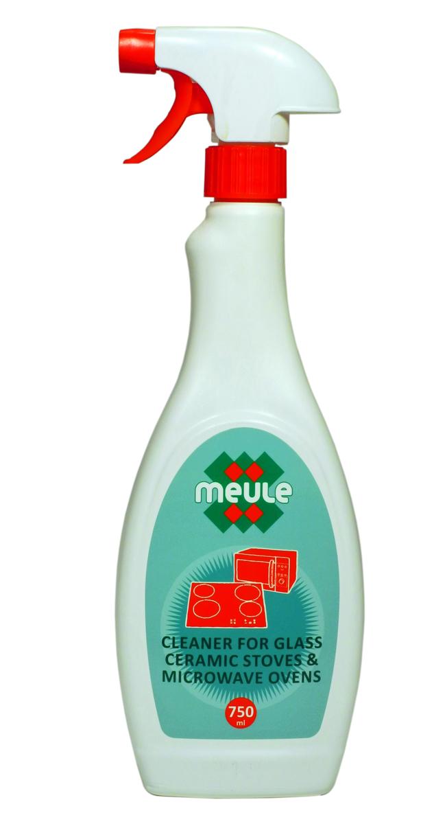 Средство Meule, для чистки стеклокерамических поверхностей, 750 мл41619Meule Ovens Cleaner 750 ml - Средство для чистки стеклокерамических поверхностей и микроволновых печей. Идеально удаляет остатки грязи и жира. Подходит для чистки духовых шкафов и газовых горелок.Растворяет стойкие и подгоревшие жиры.Не царапает поверхность.