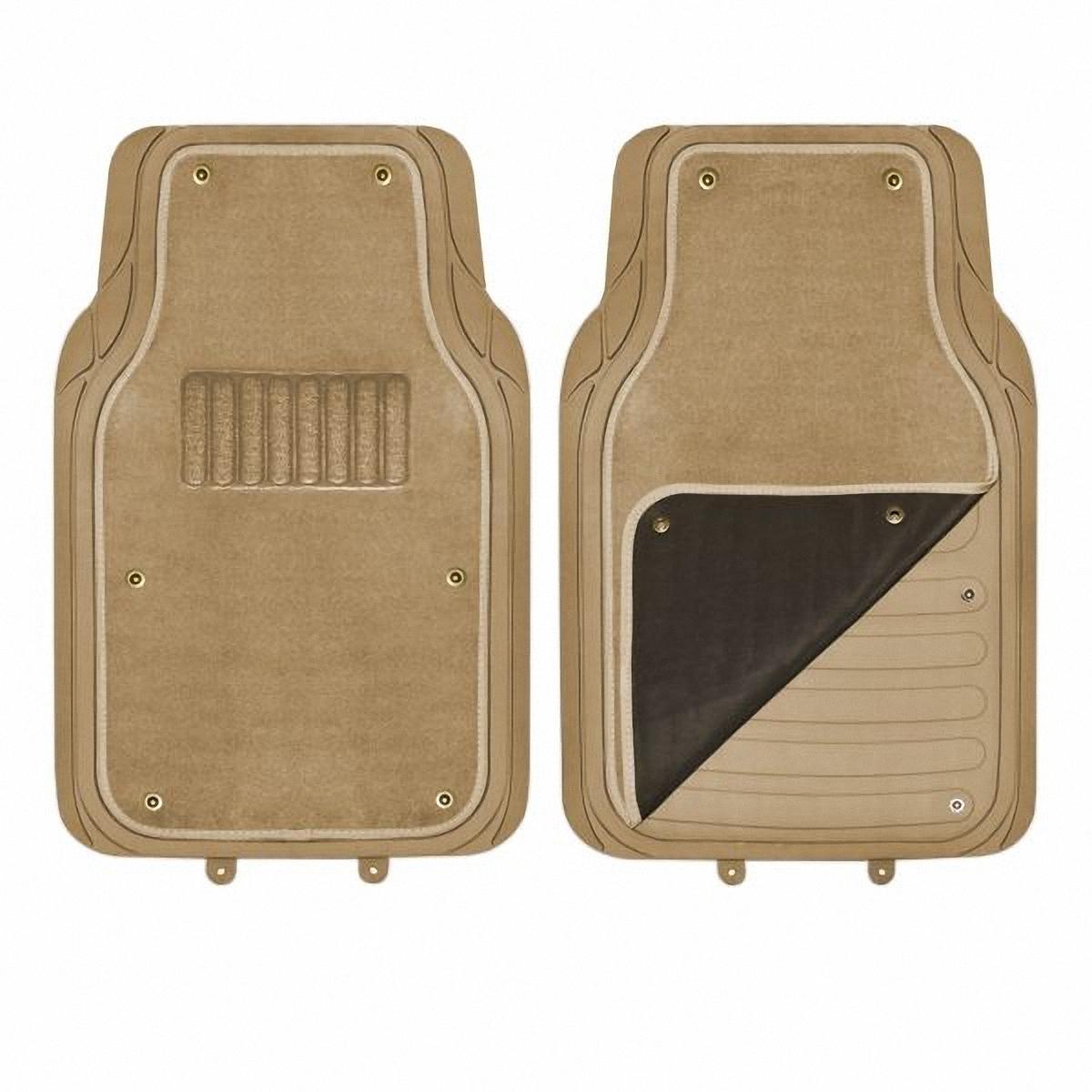 Коврик в салон передний Skyway. TS2212P-S-2F BE/S01701023VT-1520(SR)Коврик салона передний 2 предмета SKYWAY Полиуретановый со съемным ковролином. Бежевый (размер: 71*45 см) TS2212P-S-2F BE/S01701023. Комплект универсальных передних ковриков салона.Особенности:Коврики сохраняют эластичность даже при экстремально низких и высоких температурах (от -50°С до +50°С).Обладают повышенной устойчивостью к износу и агрессивным средам, таким как антигололёдные реагенты, масло и топливо.Усовершенствованная конструкция изделия обеспечивает плотное прилегание и надёжную фиксацию коврика на полу автомобиля.