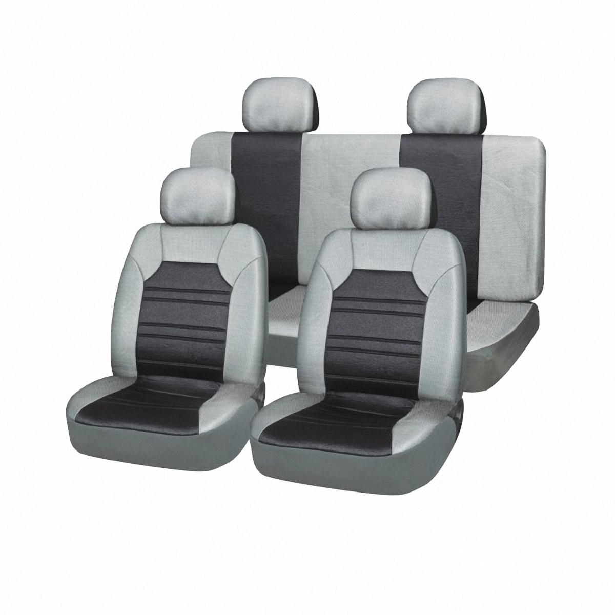 Чехлы автомобильные Skyway. SW-121033 BK/GY S/S01301027Ветерок 2ГФВам не хватает уюта и комфорта в салоне? Самый лучший способ изменить это – «одеть» ваши сидения в чехлы SKYWAY. Изготовленные из прочного материала они защитят ваш салон от износа и повреждений. Более плотный поролон позволяет чехлам полностью прилегать к сидению автомобиля и меньше растягиваться в процессе использования. Ткань чехлов на сиденья SKYWAY не вытягивается, не истирается, великолепно сохраняет форму, устойчива к световому и тепловому воздействию, а ровные, крепкие швы не разойдутся даже при сильном натяжении.