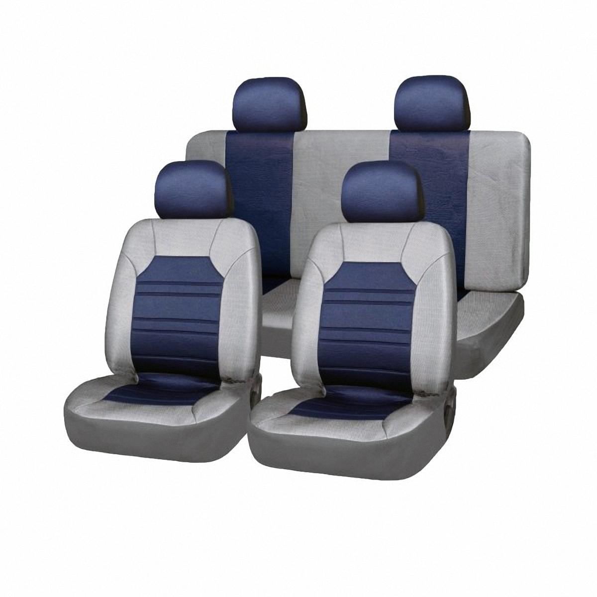 Чехлы автомобильные Skyway. SW-121032 GY/BU S/S01301026SC-FD421005Вам не хватает уюта и комфорта в салоне? Самый лучший способ изменить это – «одеть» ваши сидения в чехлы SKYWAY. Изготовленные из прочного материала они защитят ваш салон от износа и повреждений. Более плотный поролон позволяет чехлам полностью прилегать к сидению автомобиля и меньше растягиваться в процессе использования. Ткань чехлов на сиденья SKYWAY не вытягивается, не истирается, великолепно сохраняет форму, устойчива к световому и тепловому воздействию, а ровные, крепкие швы не разойдутся даже при сильном натяжении.