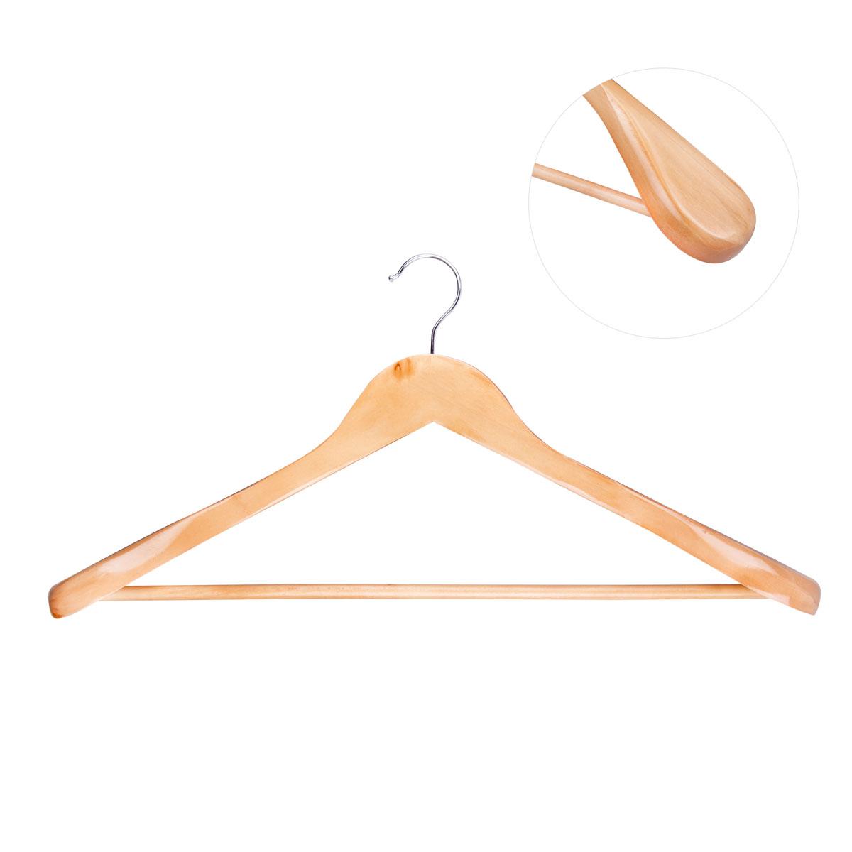 Вешалка для одежды Miolla. VM-31004900000360Универсальная вешалка для одежды Miolla выполнена из прочного дерева. Изделие оснащено перекладиной для брюк и массивными плечиками. Вешалка - это незаменимая вещь для того, чтобы ваша одежда всегда оставалась в хорошем состоянии.