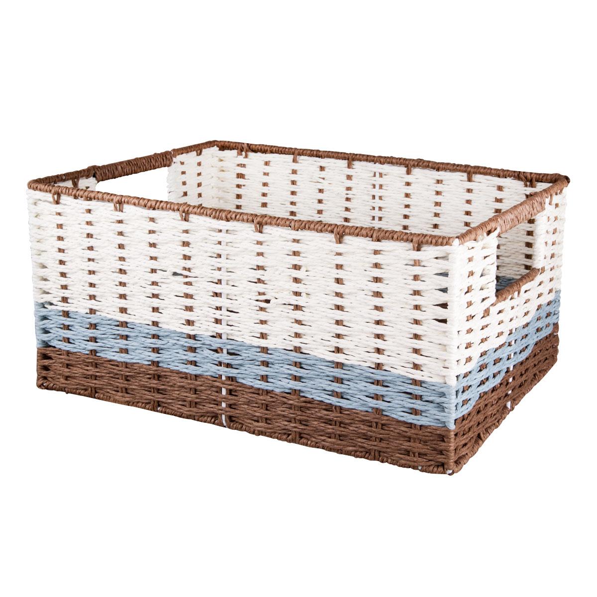 Корзина для хранения Miolla, с ручками, 38 х 28 х 18 смBSK6-MВместительная плетеная корзина для хранения Miolla - отличное решение для хранения. Корзина имеет жесткую конструкцию, снабжена удобными ручками. Подходит для хранения бытовых вещей, аксессуаров для рукоделия и других вещей дома и на даче. Экономьте полезное пространство своего дома, уберите ненужные вещи в удобную корзину и используйте ее для хранения дорогих сердцу вещей, которые нужно сберечь в целости и сохранности.