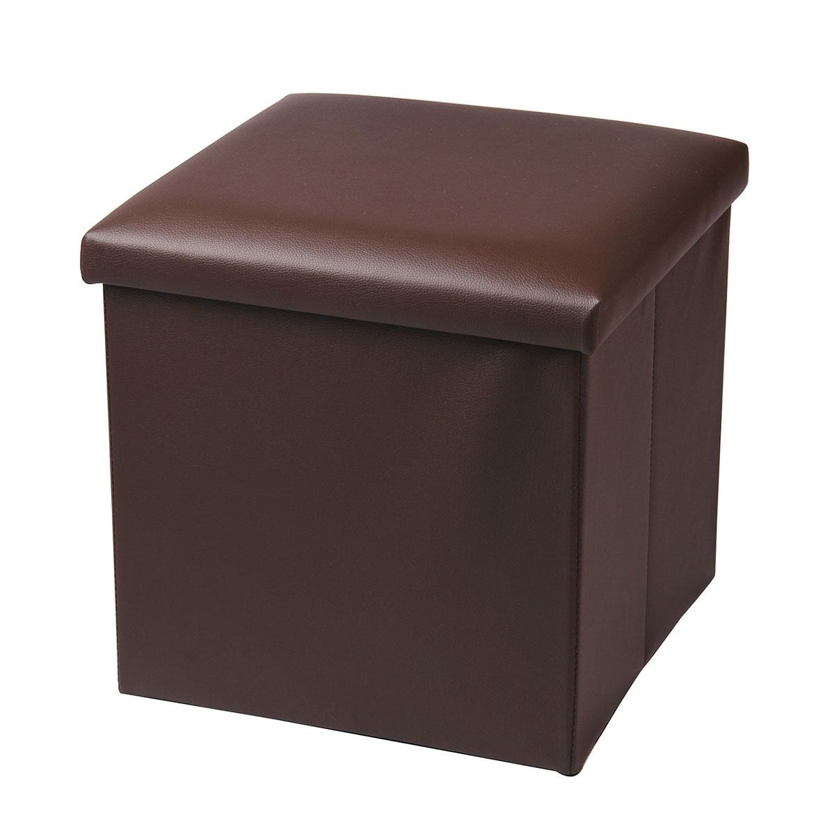 Пуф-короб для хранения Miolla, цвет: коричневый, 38 х 38 х 38 см04N*09012Пуф-короб для хранения Miolla - удобный, компактный и стильный предмет интерьера. Изделие отличает актуальный дизайн и многофункциональность. На пуфе комфортно сидеть - он выдерживает вес до 100 кг. Верхняя часть пуфа представляет собой съемную крышку, внутри можно хранить небольшие предметы домашнего обихода. Оптимальные размеры куба позволяют хранить внутри множество мелочей, которые так трудно собрать воедино в маленькие контейнеры. Пуф-короб складной, благодаря чему его удобно хранить и перевозить. Лаконичный однотонный дизайн подойдет практически к любому интерьеру.