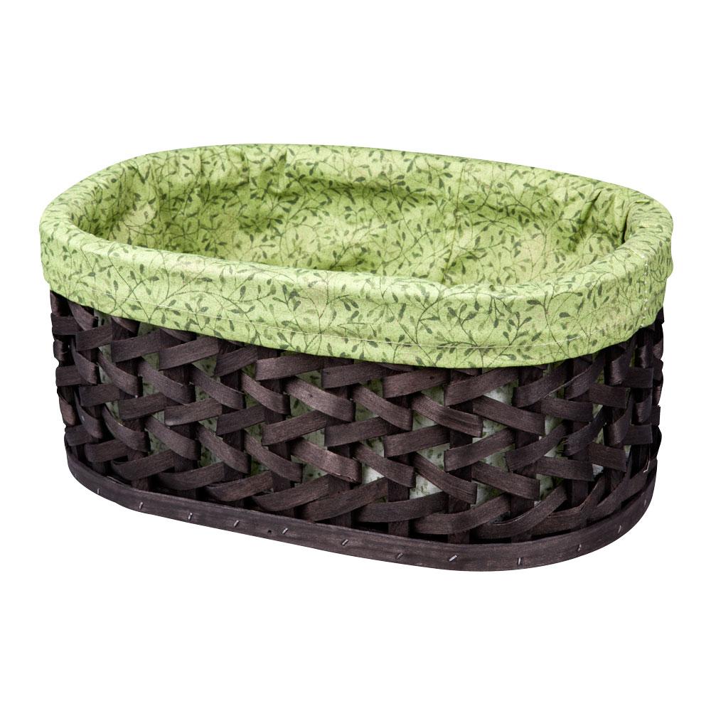 Корзина плетеная Miolla, 38 х 28 х 16 см. QL400411-L12723Вместительная плетеная корзина для хранения Miolla - отличное решение для хранения ваших вещей. Корзина овальной формы выполнена из дерева и дополнена текстилем с растительным рисунком. Подходит для хранения бытовых вещей, аксессуаров для рукоделия и других вещей дома и на даче. Экономьте полезное пространство своего дома, уберите ненужные вещи в удобную корзину и используйте ее для хранения дорогих сердцу вещей, которые нужно сберечь в целости и сохранности.