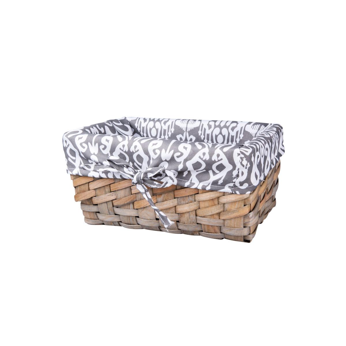 Корзина плетеная Miolla, 27 х 16 х 13 см. QL400435-SRG-D31SВместительная плетеная корзина для хранения Miolla - отличное решение для хранения ваших вещей. Корзина выполнена из дерева и дополнена текстилем. Подходит для хранения бытовых вещей, аксессуаров для рукоделия и других вещей дома и на даче. Экономьте полезное пространство своего дома, уберите ненужные вещи в удобную корзину и используйте ее для хранения дорогих сердцу вещей, которые нужно сберечь в целости и сохранности.