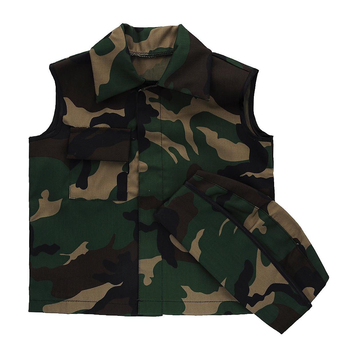 Карнавальный костюм для мальчика Вестифика Солдат, цвет: хаки. 107 008. Размер 94/134