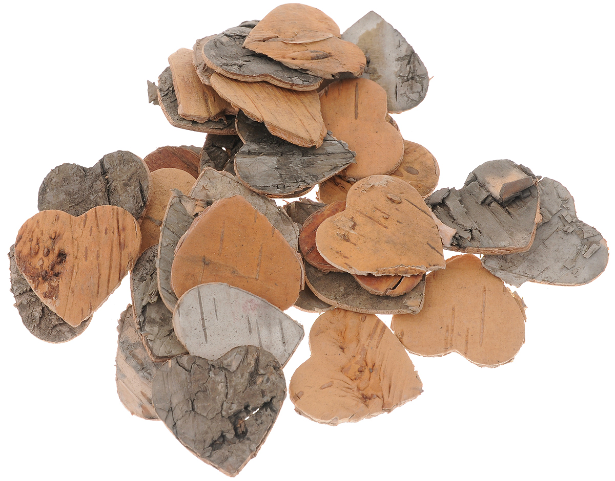 Декоративный элемент Dongjiang Art Сердце, цвет: натуральное дерево, 30 штSS 4041Декоративный элемент Dongjiang Art Сердце, изготовленный из натуральной коры дерева, предназначен для украшения цветочных композиций. Изделие можно также использовать в технике скрапбукинг и многом другом. Флористика - вид декоративно-прикладного искусства, который использует живые, засушенные или консервированные природные материалы для создания флористических работ. Это целый мир, в котором есть место и строгому математическому расчету, и вдохновению.