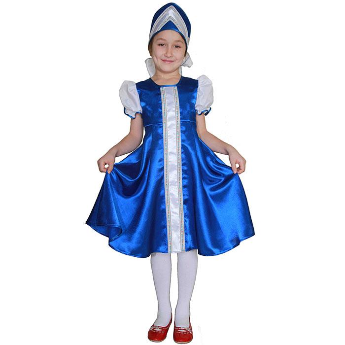 Карнавальный костюм для девочки Вестифика Царевна, цвет: синий, белый. 102 027. Размер 110/116 -  Карнавальные костюмы и аксессуары