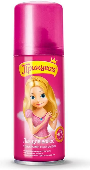Принцесса Лак для волос с блестками 100 мл35129