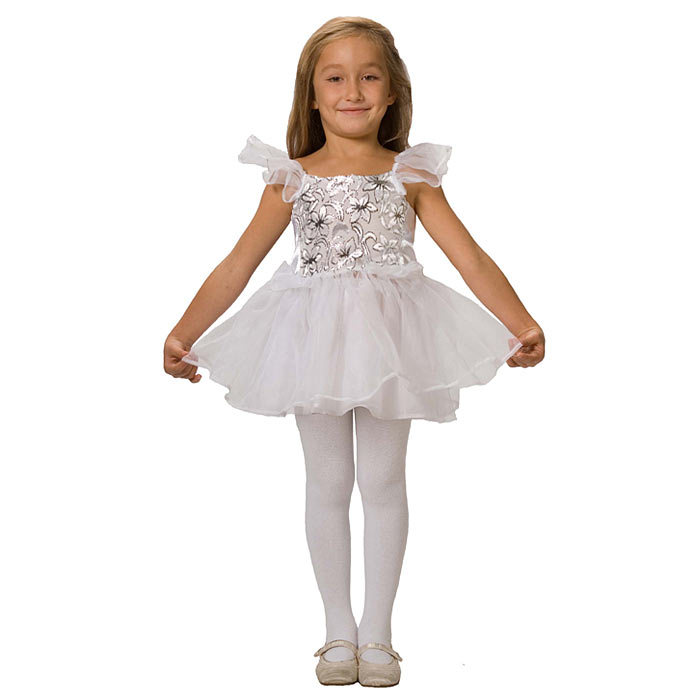 Карнавальный костюм для девочки Вестифика Снежинка, цвет: белый, серебристый. 102 006. Размер 98/110 -  Карнавальные костюмы и аксессуары